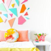 A Colorful Geometric Headboard
