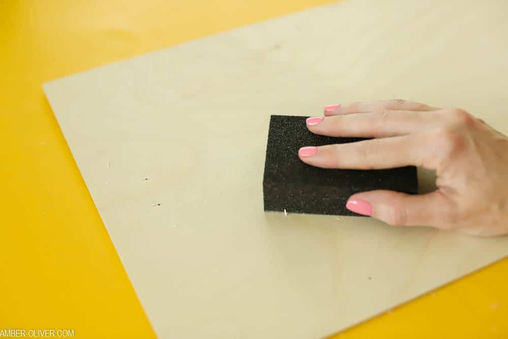 sand the surface of your DIY bulletin board