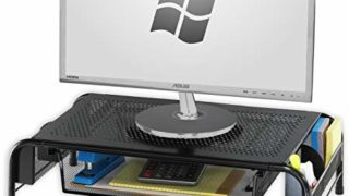 Metal Desk Monitor Stand with Drawer