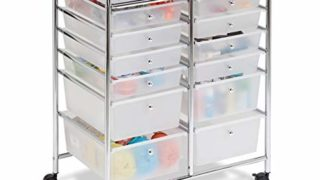 Rolling Storage Cart  12 Plastic Drawers