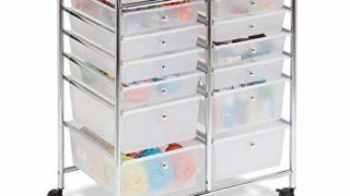 Rolling Storage Cart  12 Plastic Drawers
