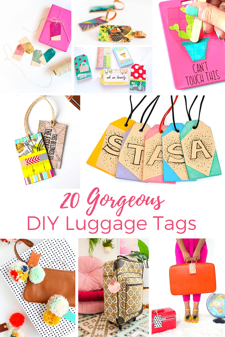 20 gorgeous diy luggage tags