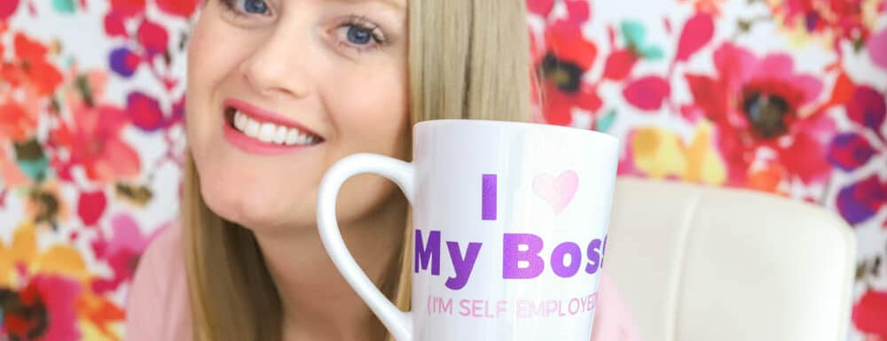 "DIY coffee mug ""I love my boss!"""