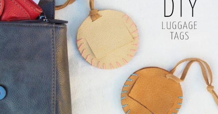 DIY: Leather Luggage Tags + My Trip to Hawaii!