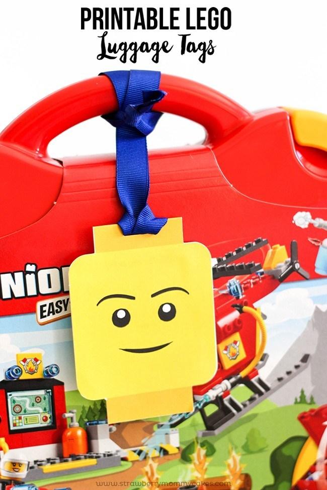 Printable LEGO Luggage Gift Tags