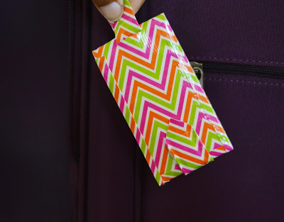 DIY Luggage Tag using duct tape
