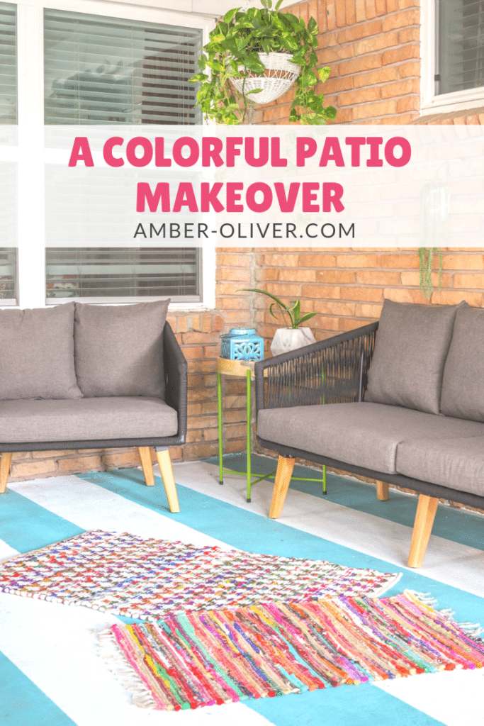 beautiful, colorful patio