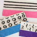 adorable, modern color block pouches