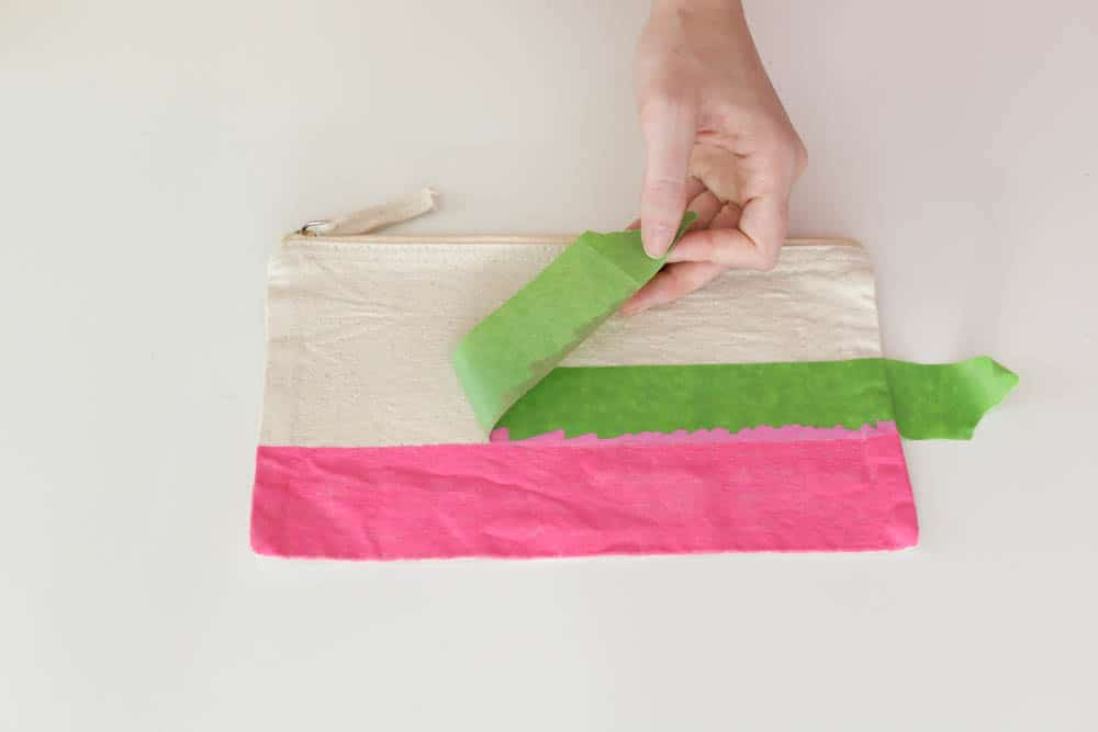 removing paint tape from modern color block