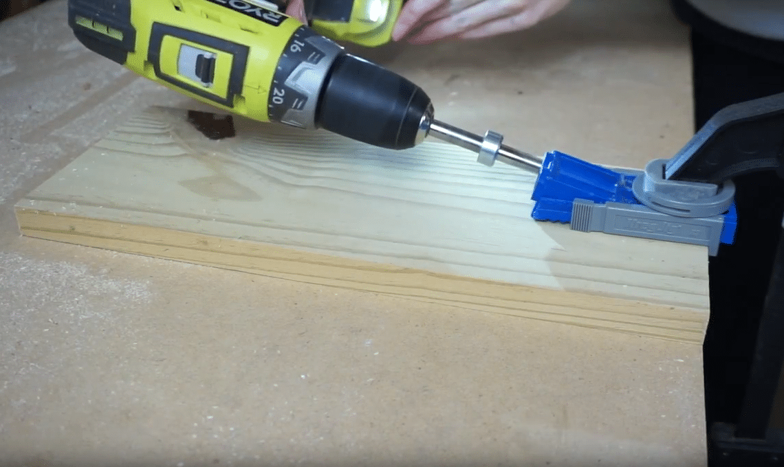 How To Turn Dresser Drawers Into Shelves: making pocket holes with a Kreg Jig