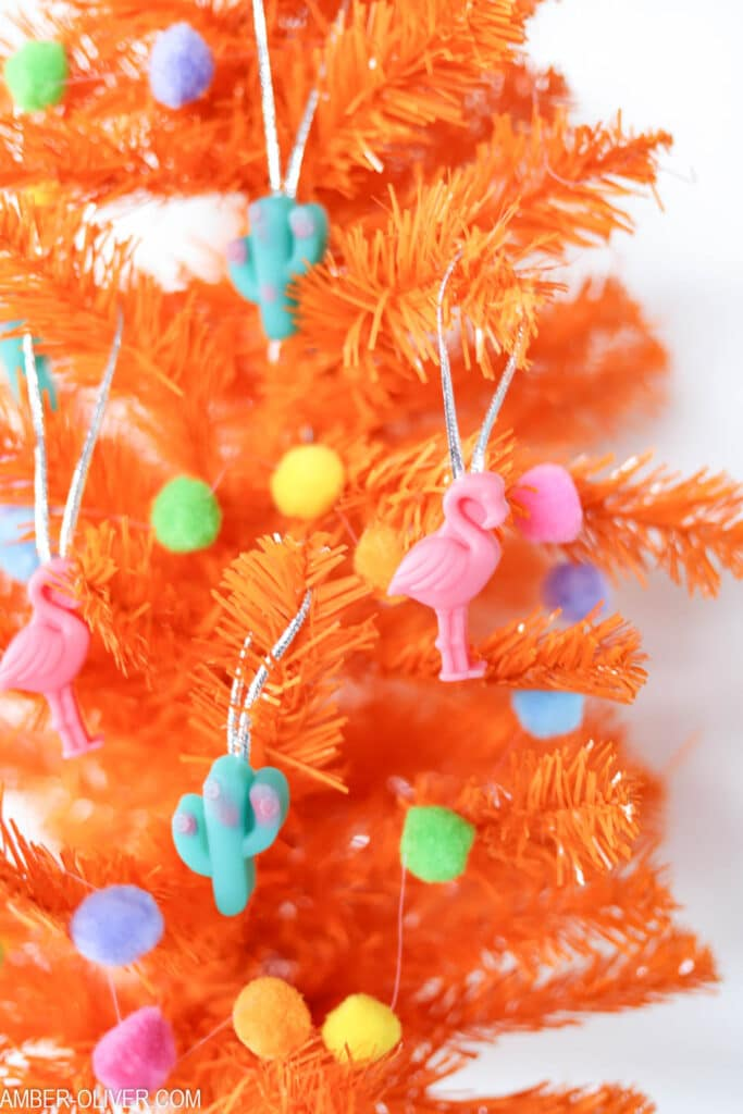 DIY resin Ornament on an orange tree