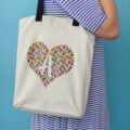 tote bag with cricut infusible ink