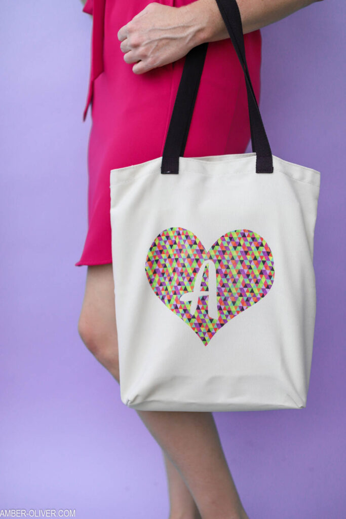 adorable monogram tote bag