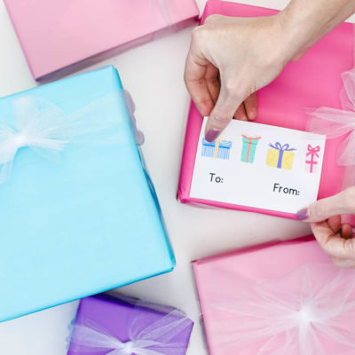 DIY Gift Tags Using Cricut Print Then Cut