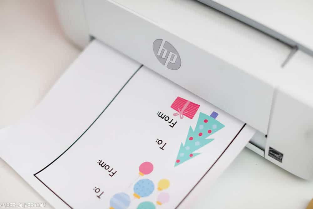 creating DIY gift tags using print then cut