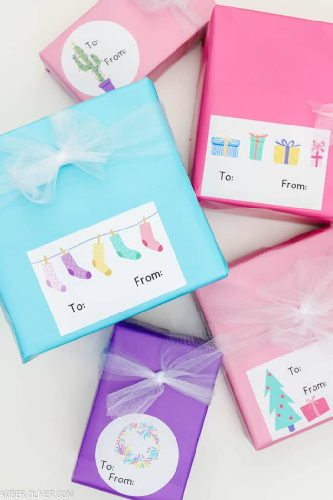 DIY gift tags made with cricut print then cut