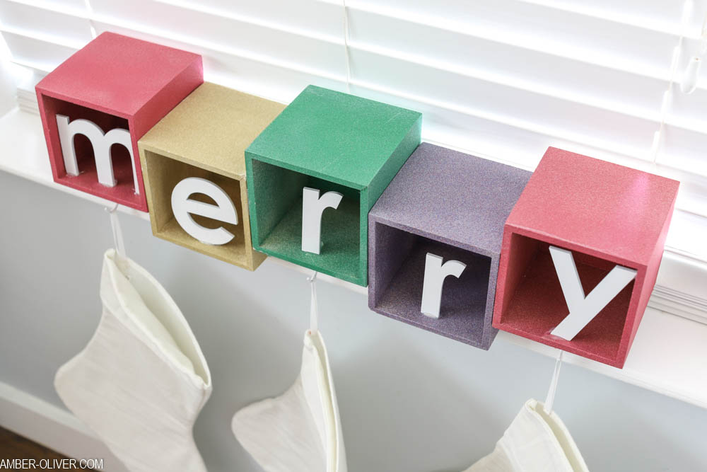 colorful DIY stocking holder