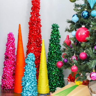 Rainbow Cone Christmas Trees