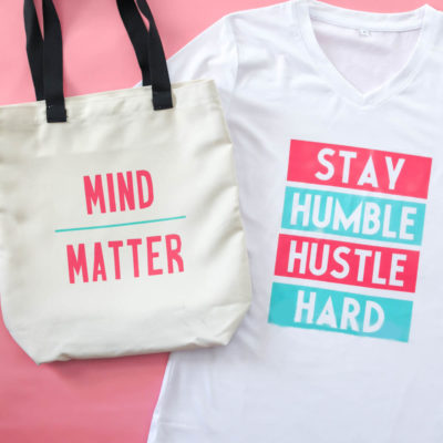 Cricut Infusible Ink Workout Tee and Tote