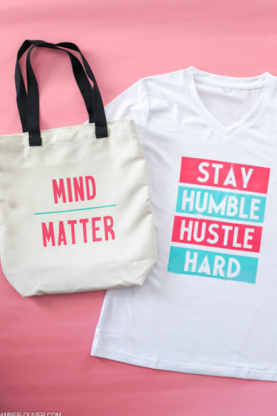 tee and tote made with cricut infusible ink