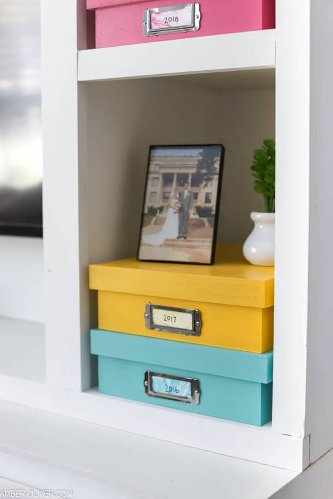 colorful Diy memory boxes
