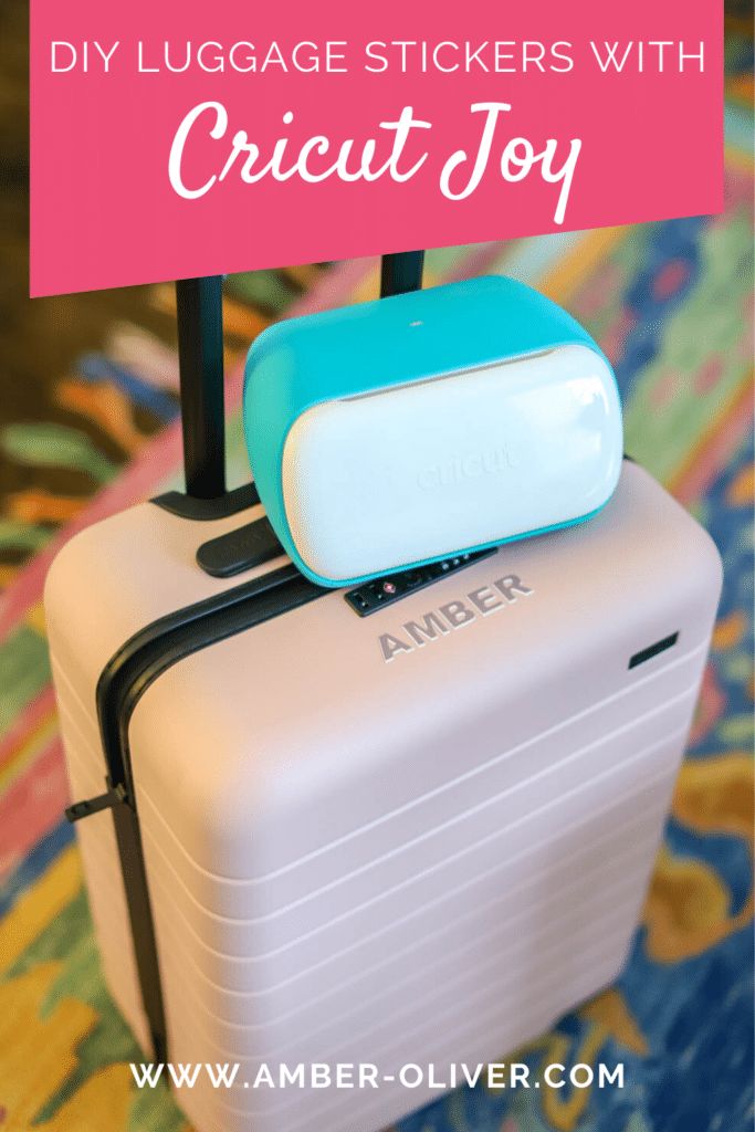 How to make DIY luggage stickers with the new Cricut Joy! #cricutmade #CricutJOY