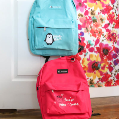 Cricut Backpacks for The Blue Ribbon Project