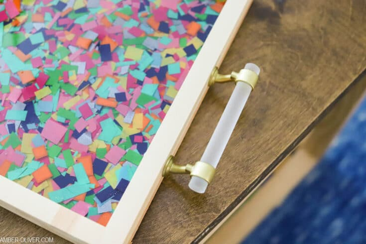 DIY Confetti Resin Tray