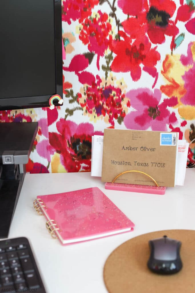 diy notebook covers and DIY mail holder made from resin