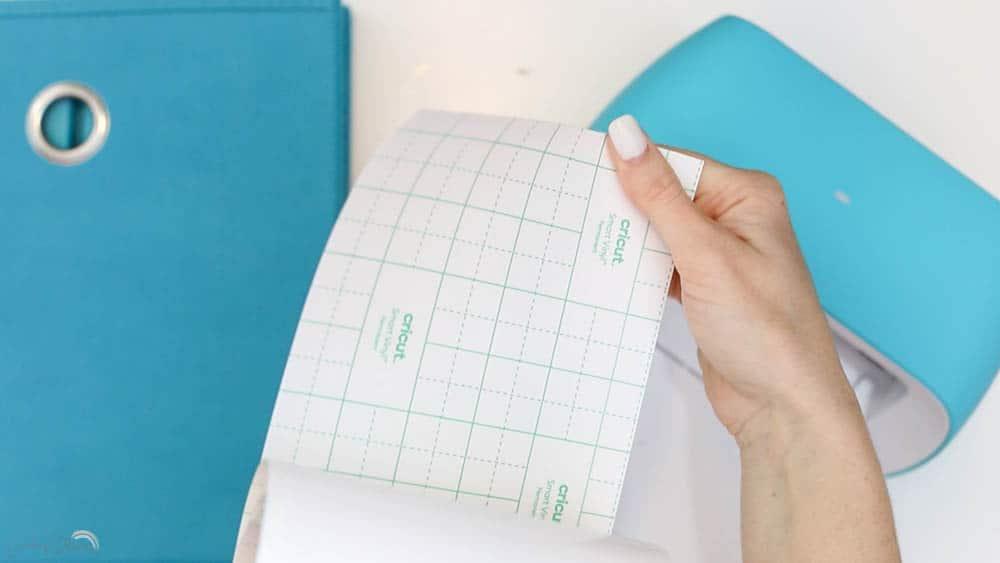 use regular vinyl to make fabric bin storage labels