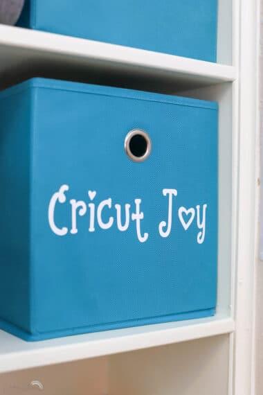how to store your Cricut JOY
