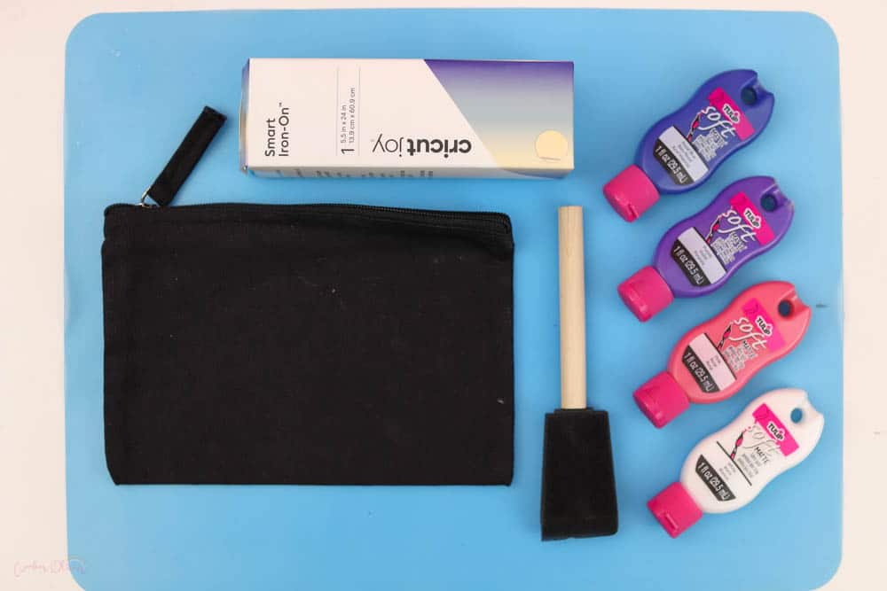 materials needed to paint a galaxy on a bag
