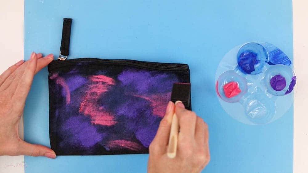 how to paint a galaxy adding pink