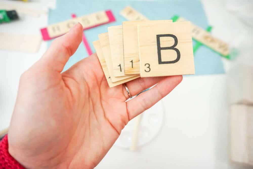 scrabble tile crafts using dollar store items