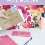 how to make a DIY mail holder with resin