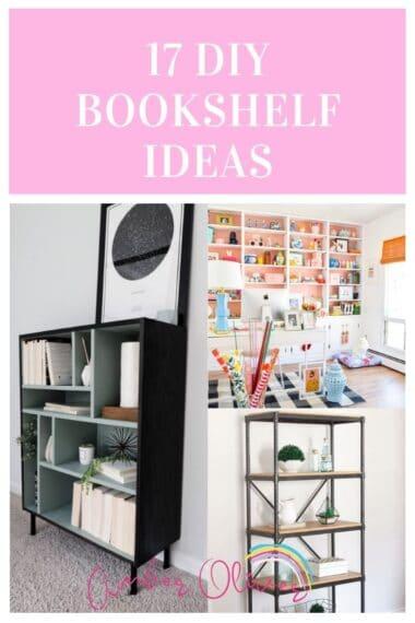 17 Beautiful Bookshelf Ideas To DIY pin