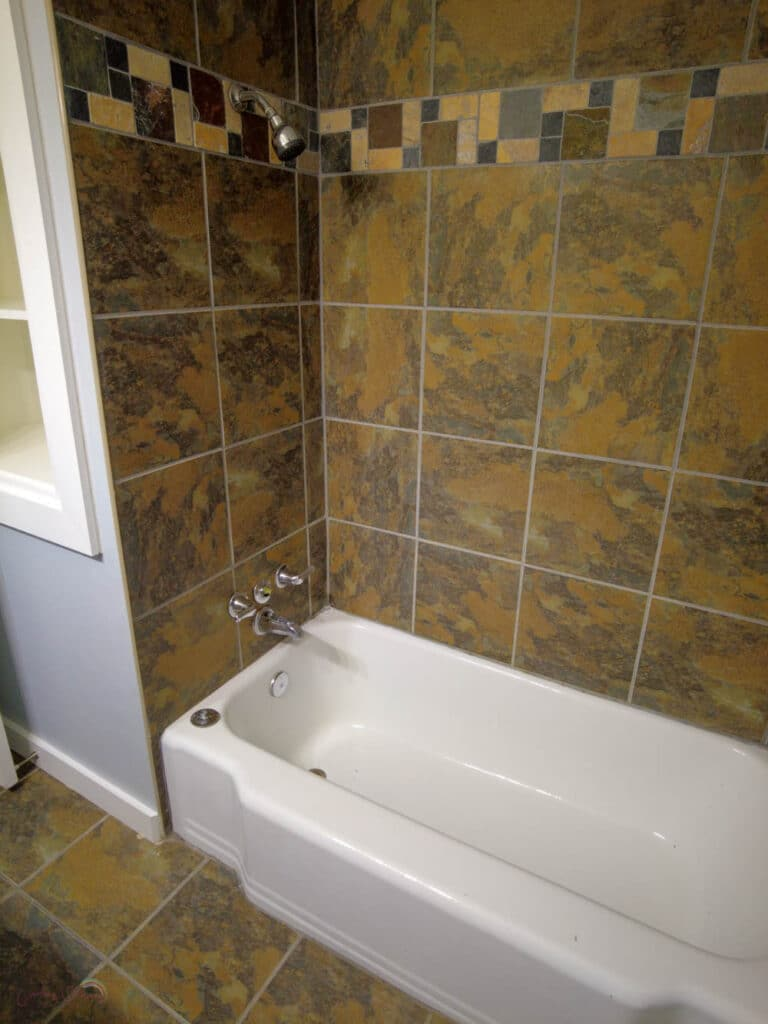 shower and tub before