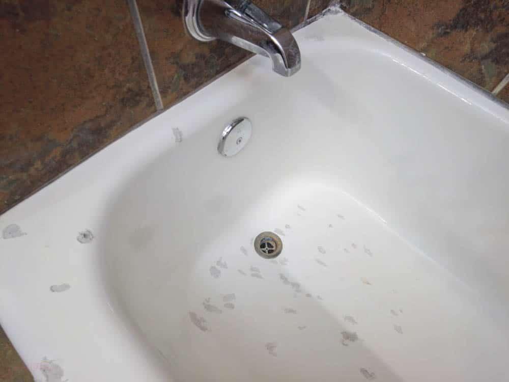 bathtub before painting